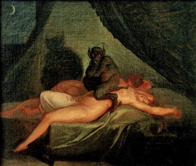 В мифологии басков за сонный паралич отвечает специальный персонаж — Ингума. Он пробирается по ночам в дома и сдавливает горло спящего.