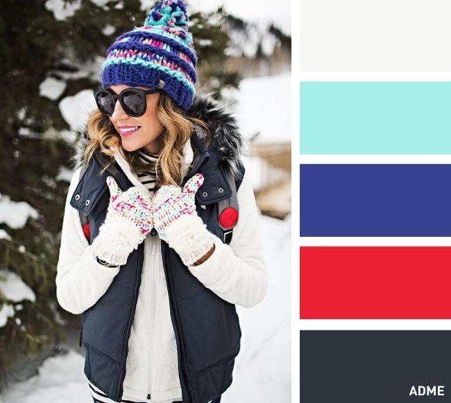 Полезная  шпаргалка -- подходящие цветовые сочетания для головных уборов и шарфов