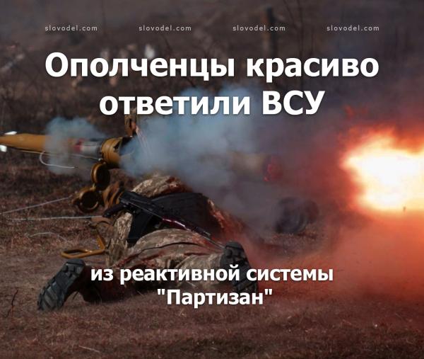 Ополченцы красиво ответили ВСУ из реактивной системы «Партизан»