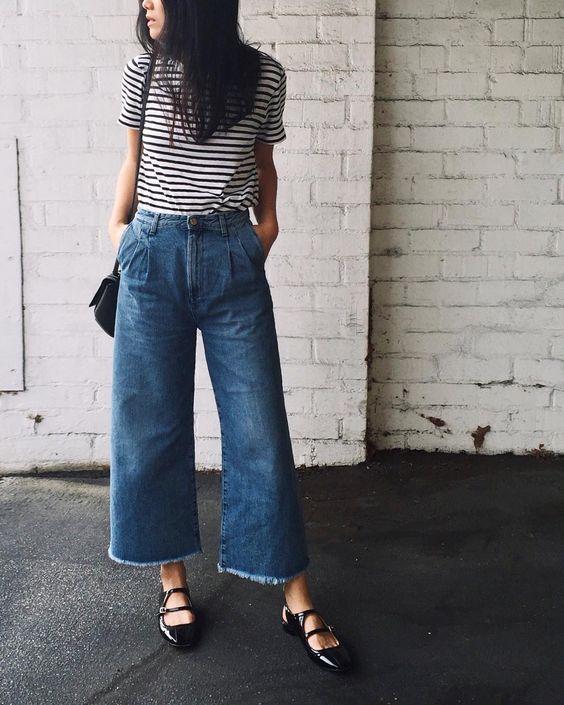 С чем носить брюки кюлоты:сногсшибательные образы продолжение