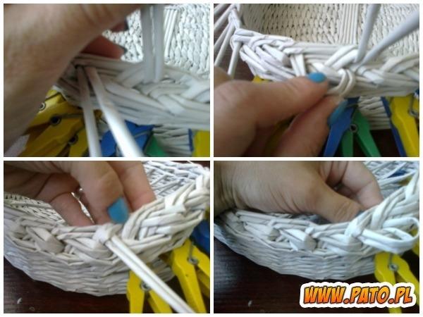 Мастер-класс по плетению корзинки из газетных трубочек (10) (600x450, 163Kb)