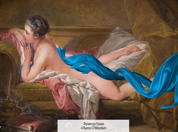 P.S. Синяя лента не является частью картины, несет цензурный характер, не более.