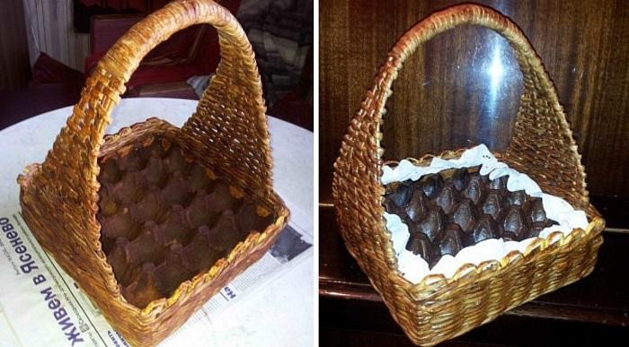 пасхальная корзинка с кроликами