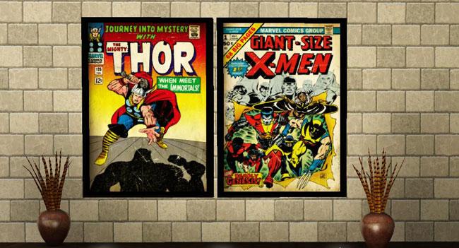 Постеров с обложками комиксов от Lornaly