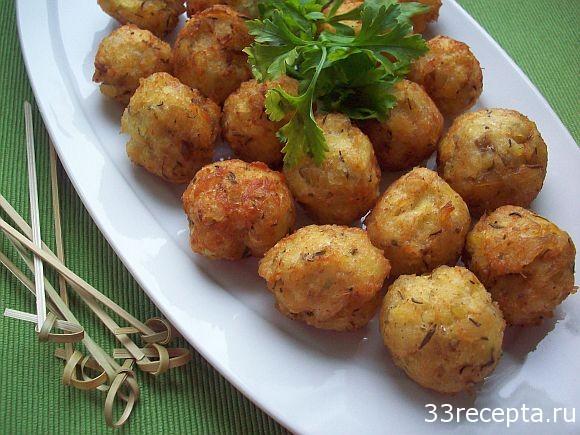 Рыбные тефтели из трески с картошкой