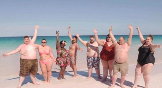 На Багамах открыли курорт для людей с лишним весом)