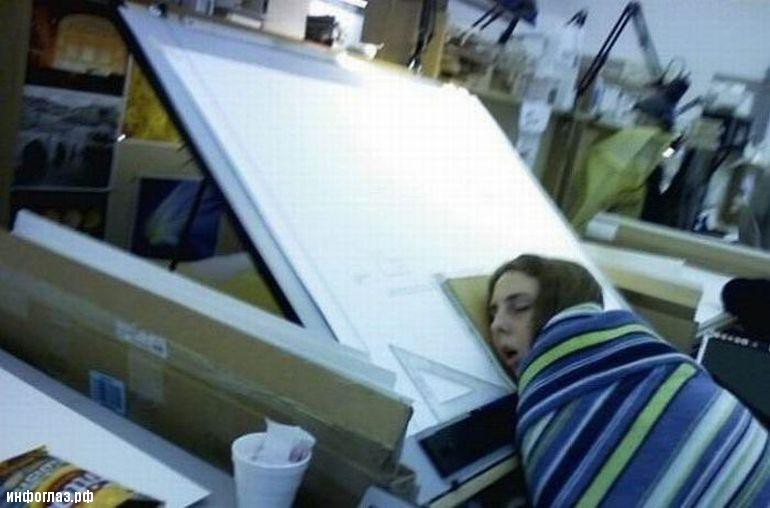 Сон на рабочем месте