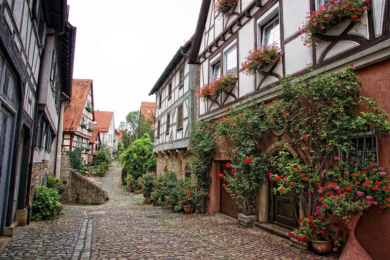 Город-курорт Бад-Вимпфен. Германия