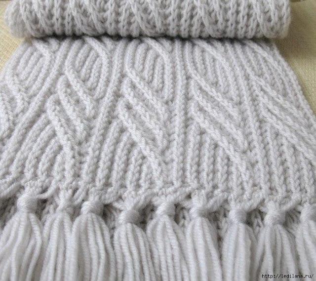 Вяжем шикарный шарф спицами …