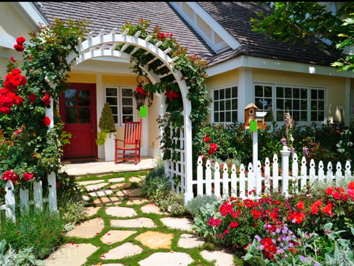 Красивый палисадник частного дома своими руками фото