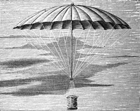 Первые парашютисты не были людьми