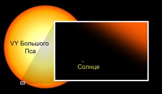 ЛЮБОЗНАТЕЛЬНЫМ. Самая большая звезда во вселенной