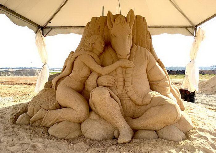 Песочные скульптуры Toshihiko Hosaka