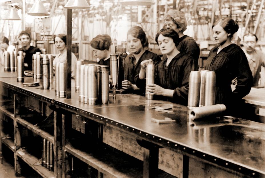 women in munitions factories