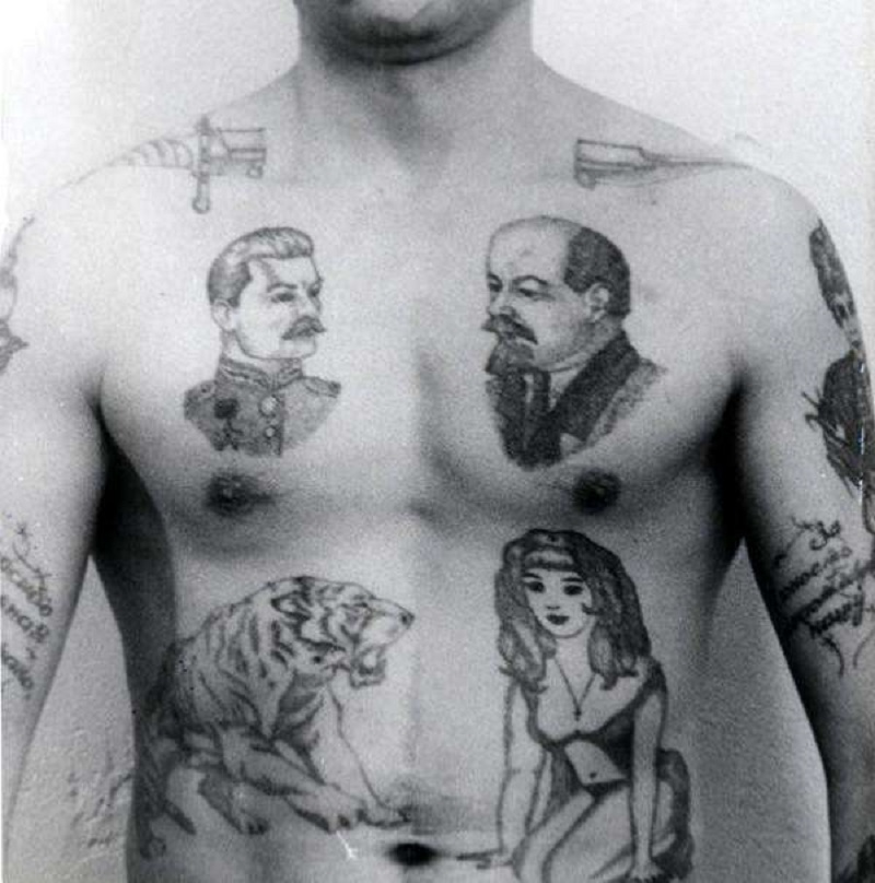 Вот почему в СССР зеки набивали на груди Ленина и Сталина