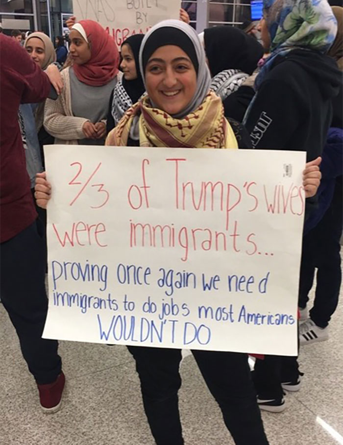 10+ Of The Best Signs From Muslim Ban Protests