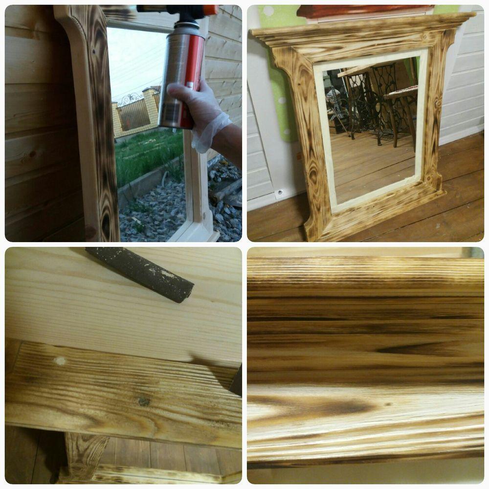 Декорируем зеркало при помощи воска и верненских красок