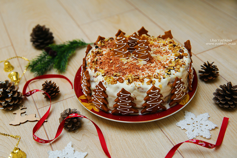 Шоколадно-ореховый торт. Все будут в восторге!