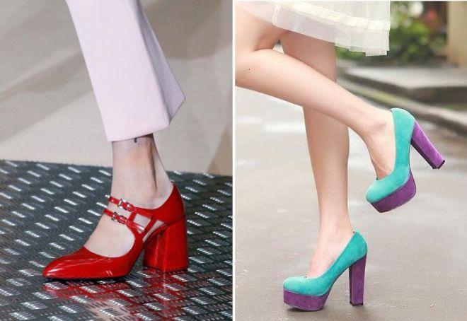 туфли на толстом каблуке 2017