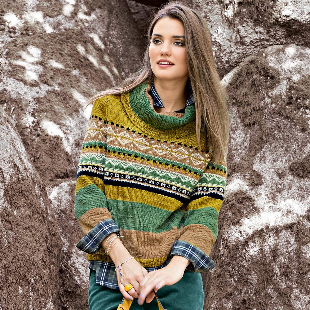 Жаккардовый свитер из кашемира