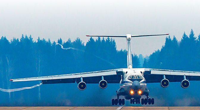 Посадить полыхающий Ил-76 с …