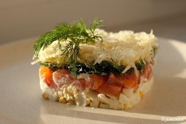 Шикарный салат с семгой и сы…