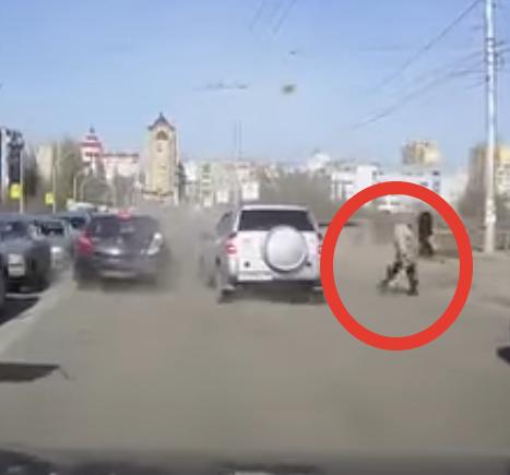 Тот случай, когда пешеход совсем неправ
