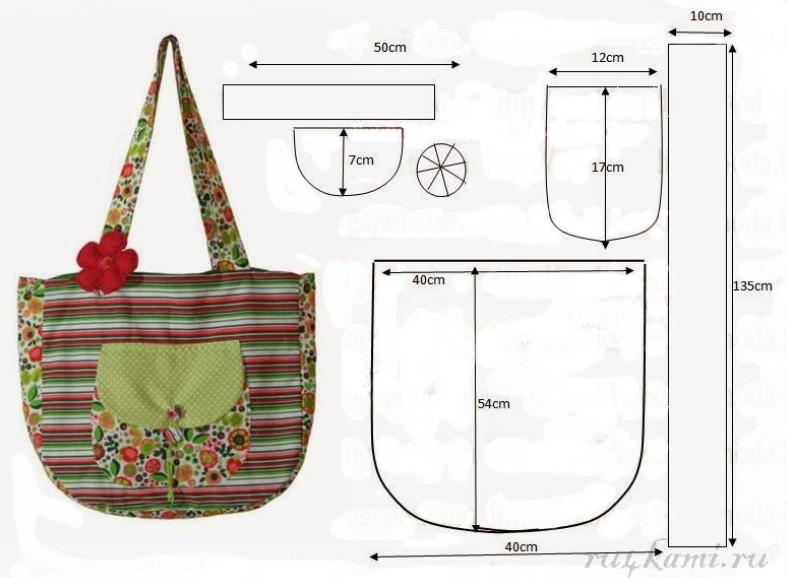 Выкройки сумок летних