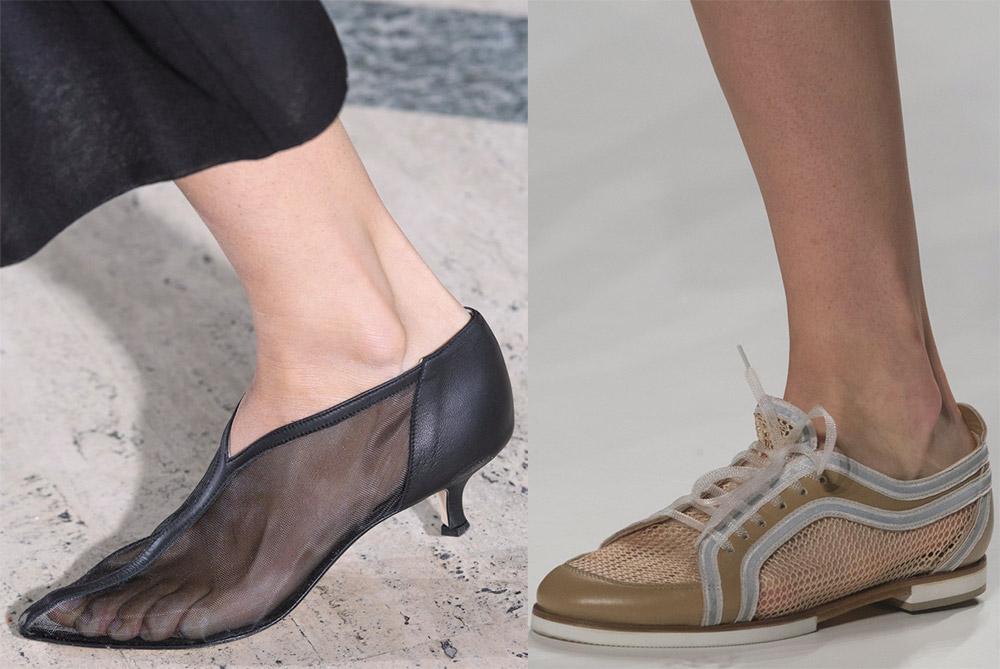 Женские туфли с сеткой