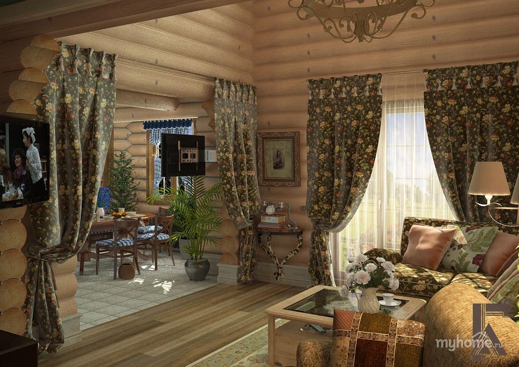 Интерьеры деревенского дома фото