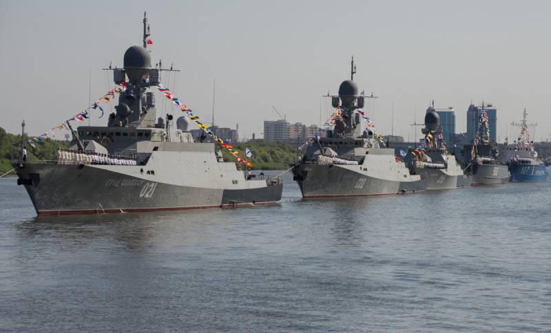 Каспийская флотилия перебази…