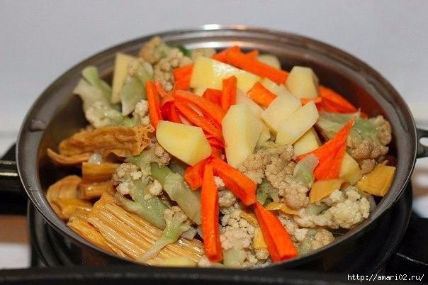 Ужин из овощей по - французски