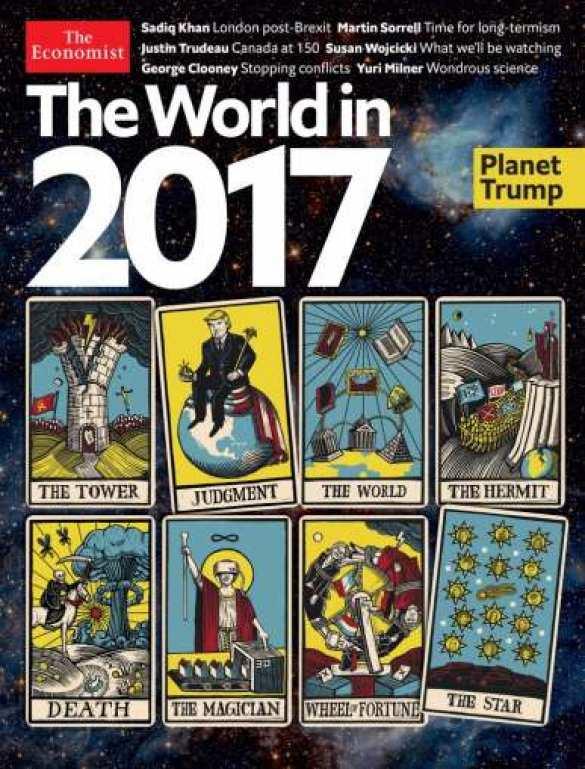 На обложке журнала «Economist» — новые прогнозы мировой элиты о будущем нашей планеты, стилизованные под карты таро
