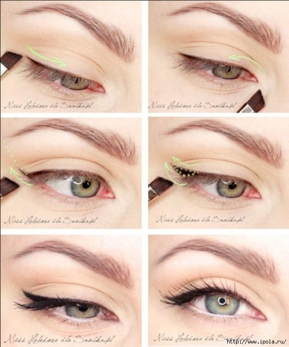 Как правильно делать стрелки на глазах пошагово