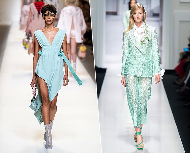 Модные вещи освежающего мятного цвета