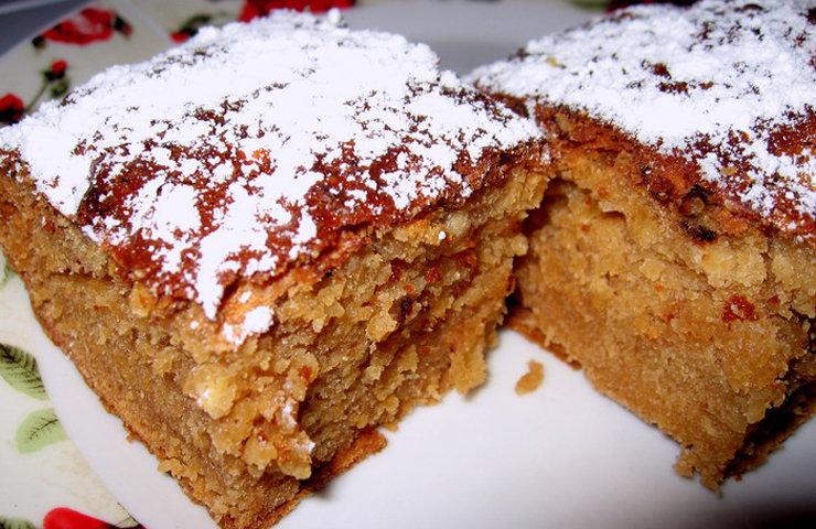 Быстрый домашний пирог с вареньем