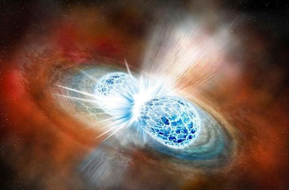 При столкновении звезд в космос выбросило огромное количество золота