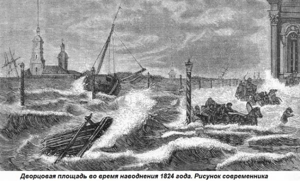 Этот день вистории: 1824 год— крупнейшее наводнение вСанкт-Петербурге