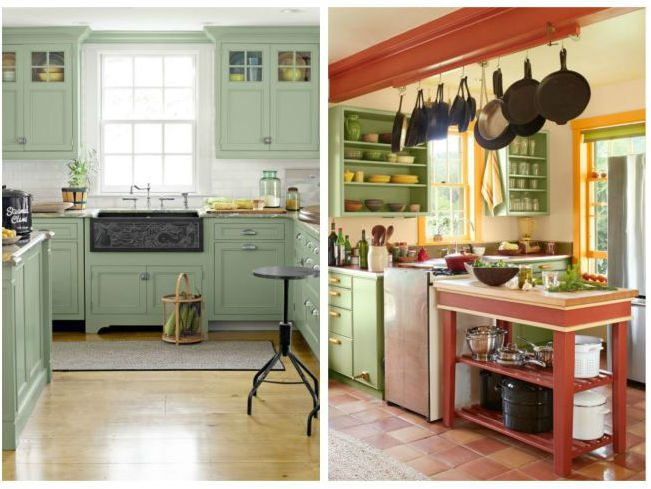 Зеленая кухня - это красиво