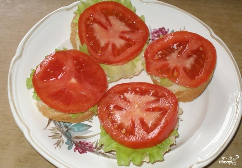 Бутерброды с помидорами рецепты