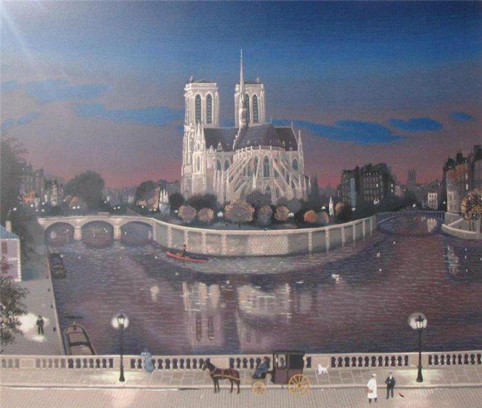 Атмосферный Париж.  Автор: Michel Delacroix.