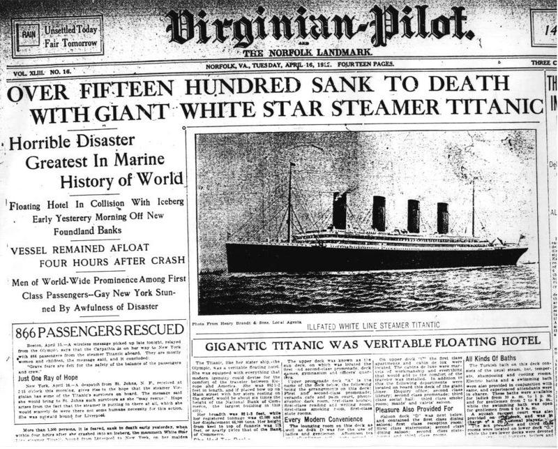 """Нью-Йоркский след утонувшего """"Титаника"""""""