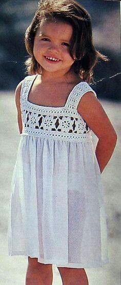В КОПИЛКУ - вязаные платья для девочек (вязание + ткань)