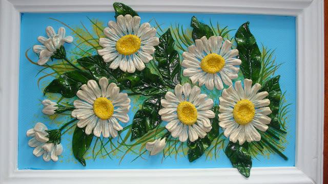 Панно из соленого теста цветы