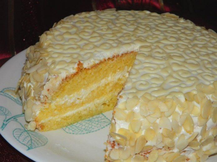 Шикарный торт «Ожидание» с нежным творожно-лимонным кремом!