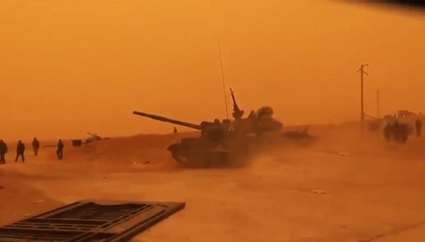 Сирийцы засняли первый успех танкового наступления под Пальмирой