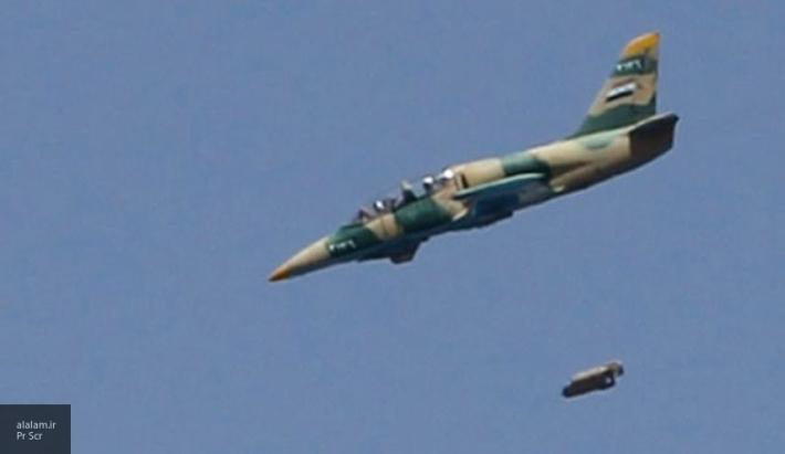 Месть за авиабазу Шайрат: асы Асада разнесли склад с оружием США в Идлибе