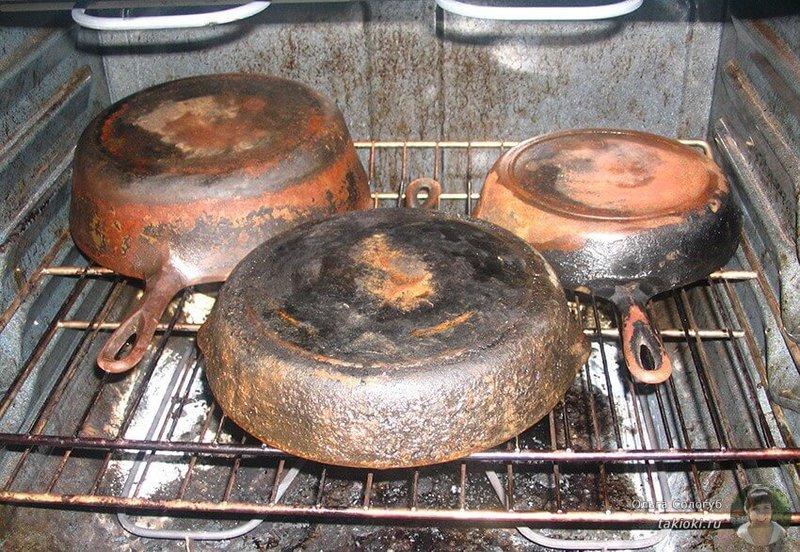 Как можно очистить сковородки без химии от нагара и жира
