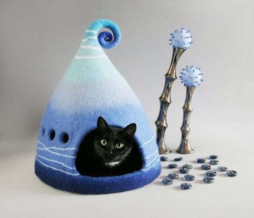 Волшебные домики из войлока для котов