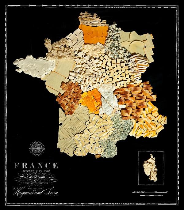 Карты стран из продуктов